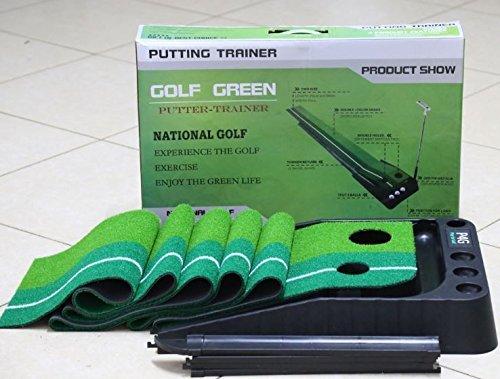 Golfoy P4G Ball Auto Return Putting Mat Indoor and Outdoor Mini Golf Set