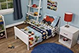 Funhouse 4 Piece Toddler Bedding Set - Includes Quilted Comforter, Fitted Sheet, Top Sheet, and Pillow Case - Construction Car and Truck Design for Boys Bed, Pack of 4