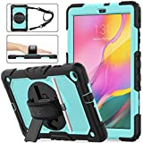 Samsung Galaxy Tab A 10.1 T510/T515 Case 2019, [Full-body] & [Shock Proof] Hybrid Armor Protective Case with 360...