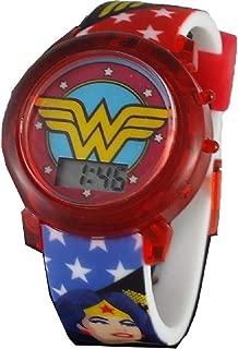 Wonder Woman Logo Light Up Strap Watch