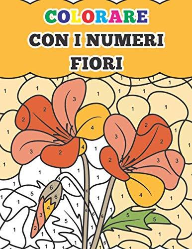colorare con i numeri fiori: libri da colorare antistress