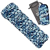 WOLF BASE Ultralight Sleeping Pad with Pillow Quick Inflatable Air Mat for Camping
