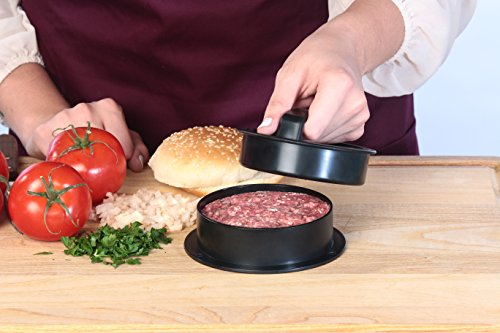 Stuffed Burger Press Kit, 3 in 1 Heavy Duty Non-Stick Patty Molds, Easily Make the Perfect Burger, Stuffed Burger or Sliders