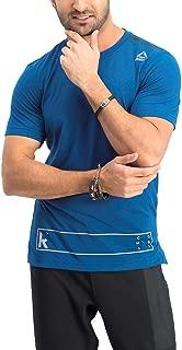 Reebok UFC Men's Blue Speedwick Performance RNF Noble Fight Combat T-Shirt AX9868