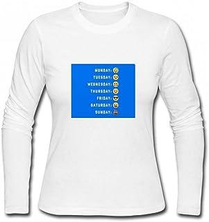 トップス 今週のEmoji Days Women Long Sleeve T-Shirt レディーズ Tシャツ