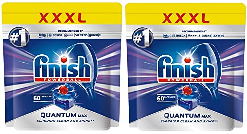 Finish Quantum MAX Powerball Dishwasher Detergent Tabs, 120 Count (2 Pack, 60 Each)