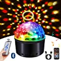Bluetooth Disco Ball Light, LED Disco Ball Night Lamp 9 Colors Sound Activated Strobe Light Wireless Phone Connection with Bluetooth Speaker and Remote for Outdoor Night Light Birthday Party Dance