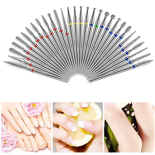 BSTOPSEL Diamond Nail Drill Bit Frezen Voor Manicure Elektrische Pedicure Files Nagelriem Verwijder Gereedschap Accessories30Pcs