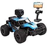 RC Car, DeXop Newest 2.4Ghz Off-Road Remote Contorl Car with HD Camera & Dual Control Mode, 20km/H High Speed Remote Control Vehicle RC Car Toy for Children & Adult-Blue