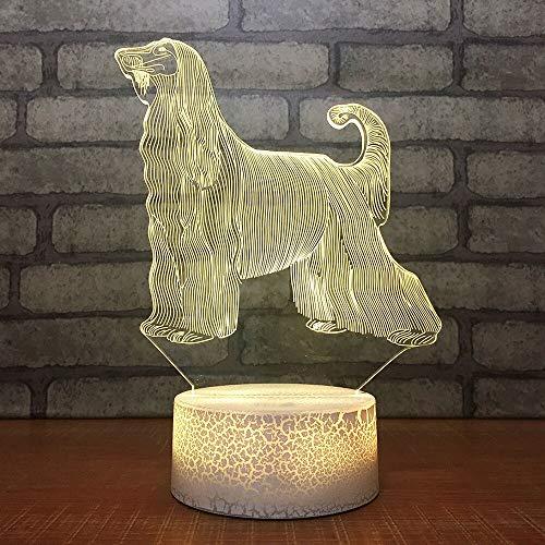 Novedad Bebé Dormitorio Mesita de noche Luz de noche Led 3D Polly Lámpara de escritorio para perros Accesorio de iluminación para perros Usb Lámpara animal creativa Luminaria Regalo Remoto
