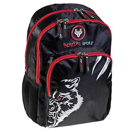 Busquets Mochila Escolar Doble Bestial Wolf
