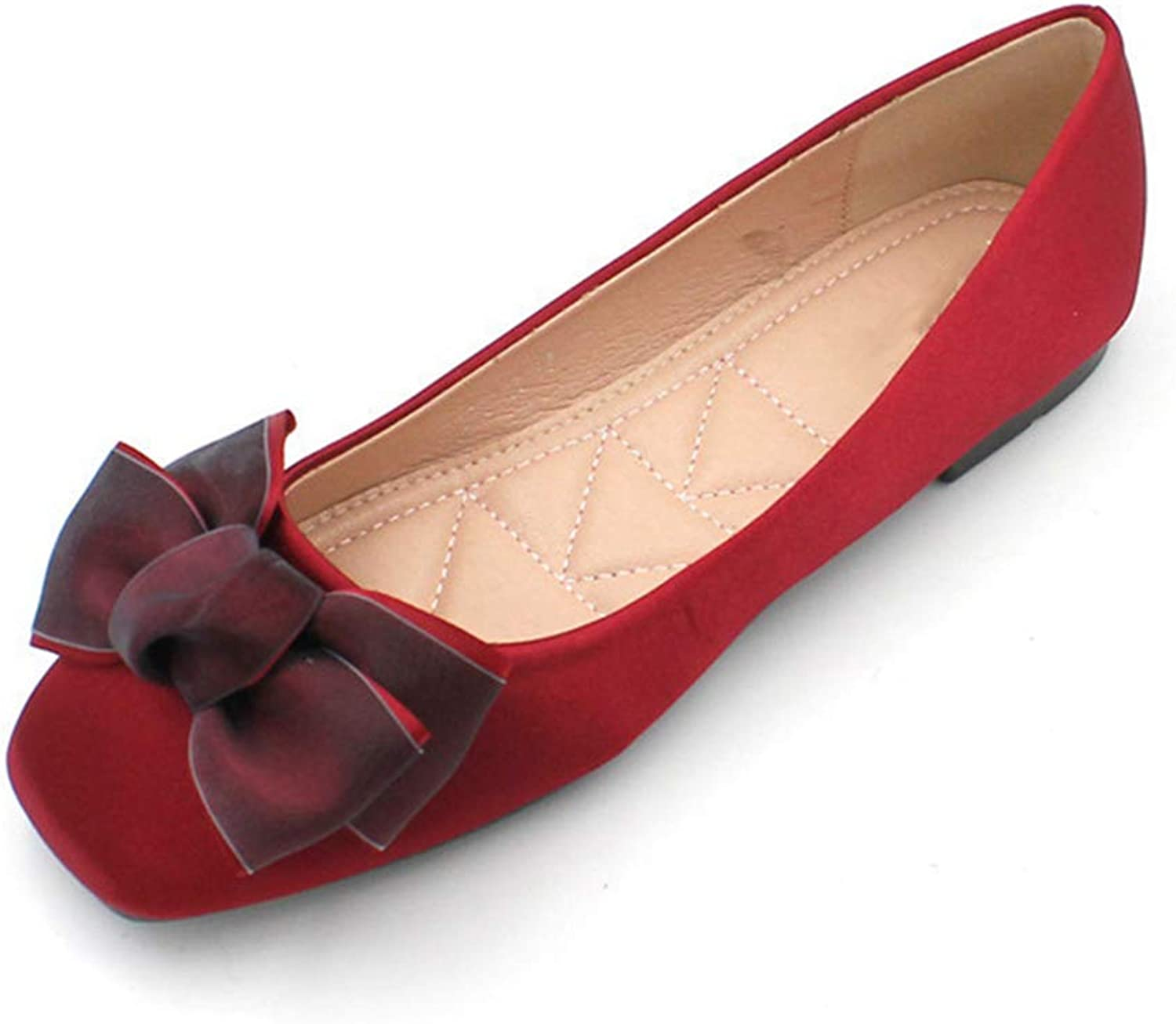 Kyle Walsh Pa Women Ballet Flats shoes Square Toe Bow-Knot Ladies Casual Loafers