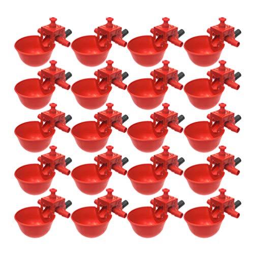 iplusmile 20 Stück Taube Trinkschale Vogelkäfig Hühnerstall Futter Wachtel Trinkbecher Huhn Wasserschale Automatische Wasserzufuhr Nutztier Werkzeug