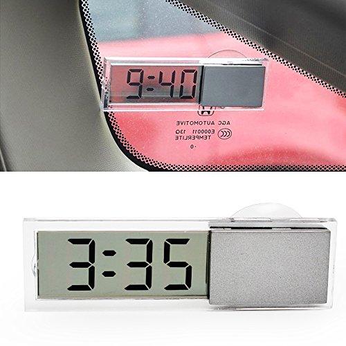 Auto Ornamente LCD Display Auto Digitale elektronische Uhr montiert auf Windschutzscheibe Armaturenbrett Auto mit Saugnapf Saugnapf Auto-Styling