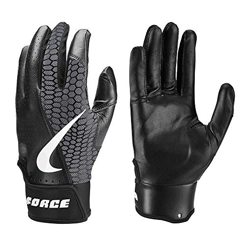 Nike Force Edge Padded Baseball Handschuhe, Batting Gloves - schwarz Gr. XL