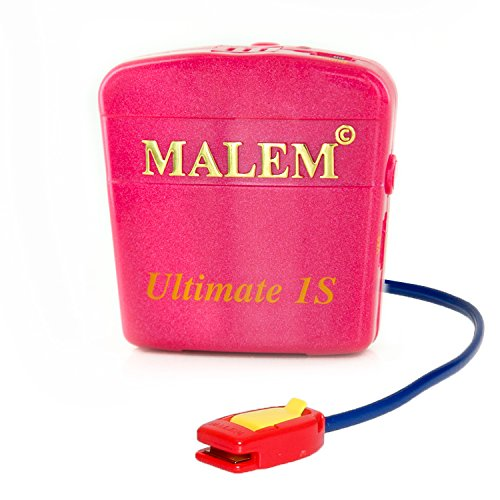 Malem Ultimate PRO 8 Selectable Tones Bedwetting Alarm for Girls & Boys w Loud Sound and Strong Vibration to Stop Bed Wetting-Magenta