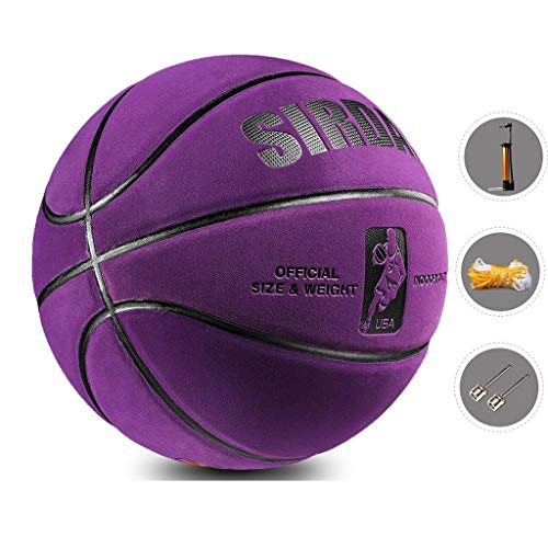Review Of YE ZI Basketballs- Standard Basketball Indoor and Outdoor No. 7 Basketball Size 9.7 inches...