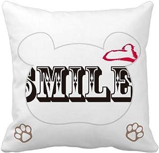 OFFbb-USA Smile Life Grow Emotion Bear - Funda cuadrada para almohada