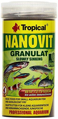Tropical nanovit mangime Granulato, Granulato koernchenzur fuetterung di Piccole Pesca Decorativo, 1er Pack (1X 250ML)