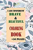 I Am Confident, Brave & Beautiful coloring book + 50 pages: Boxed Set - 4 Activity Books from Hopscotch Girls - 2 Coloring Books + 2 Sticker Books (English)