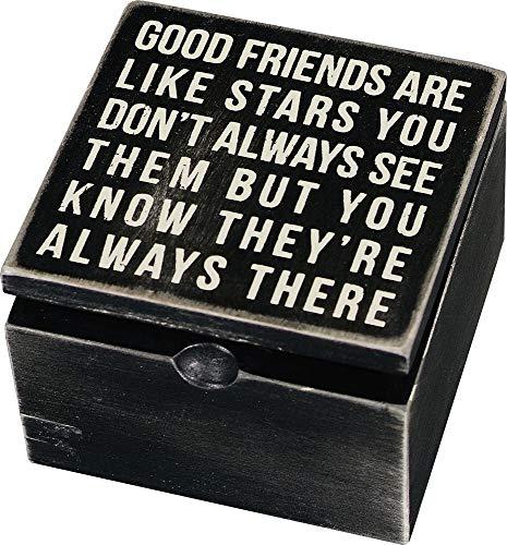 Good Friends are Like Stars Wood Box