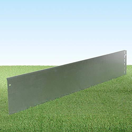 GartenAZ Rasenkante aus Metall - 7161 - Stahlblech feuerverzinkt, silberfarbig - 103, x 20 cm, Nutzlänge 10 m