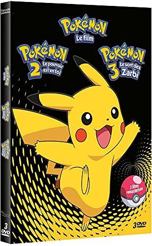 Pokémon-Coffret 1-Mewtwo Contre Mew 2-Le Pouvoir est en toi + Le Film 3-Le Sort des Zarbi