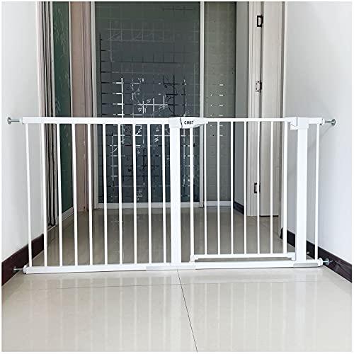 Barrera de Seguridad de Niños Rejilla para Escaleras Puerta para Mascotas con Cierre automático, Barrera de Seguridad Extensible Espacio Entre barrotes de 5.5cm