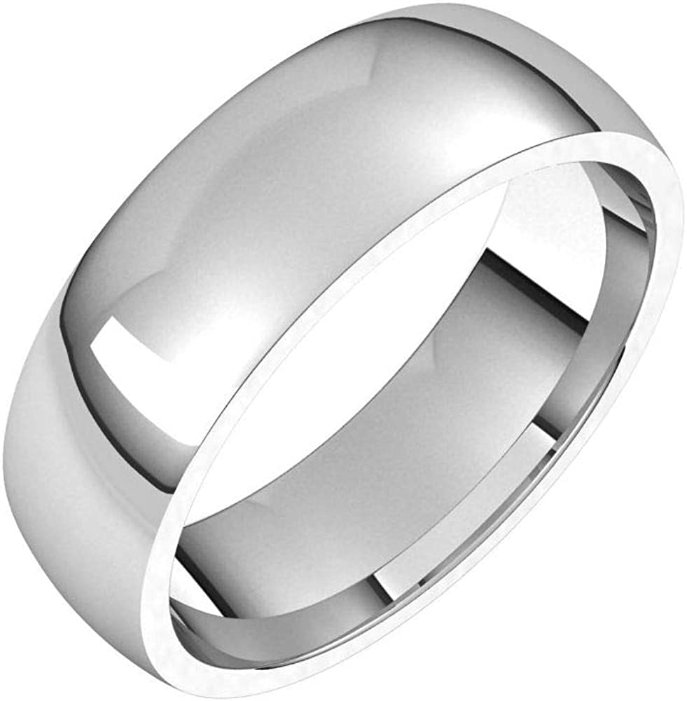 Solid 18k White Gold 5mm Comfort Band Max 50% OFF Wedding Classic P Ring Direct store Fit