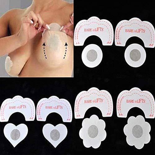 PANDOCCI Art und Weise Dame Sexy Invisible Bra Lift Frauen Geschenk (10PCS) (Heart)