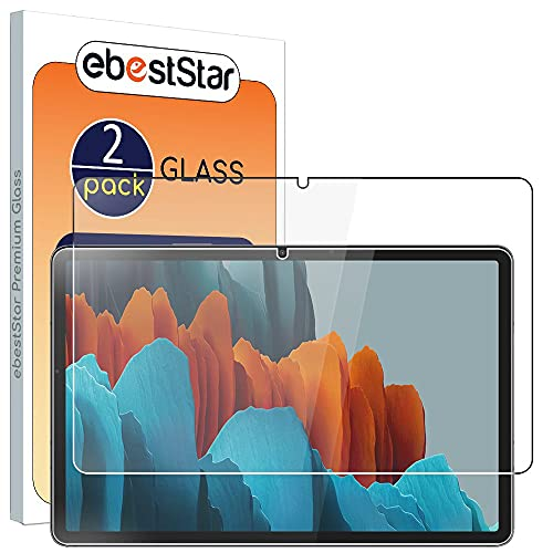 ebestStar - [Lote x2 Cristal Templado Compatible con Samsung Galaxy Tab S7 SM-T870 Protector de Pantalla, Película Vidrio Ultrafina, Dureza 9H, Sin-Burbujas [Tab S7: 253.8 x 165.3 x 6.3 mm, 11.0'']