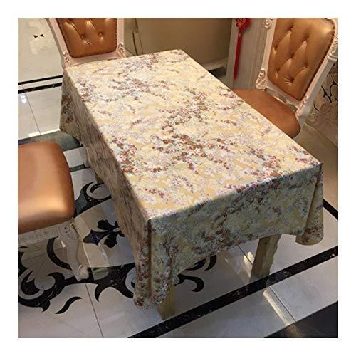 Stain stofdicht Doek Decoratieve tafellaken PVC Tafelkleed, Mooie Bloemen, Decor Kitchen Dining Party Decor Binnen Buiten (Size : 137 * 200cm)