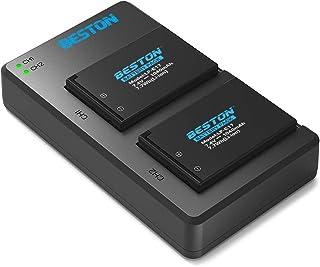 BESTON LP-E17 LP E17 互換 カメラ バッテリー 2個 + USB 急速充電器 キット 対応機種 Canon EOS 9000D 8000D M3 M5 M6 Kiss X9i X9 X8i カメラ バッテリ