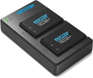 BESTON 2-Pack LP-E17 Battery Packs and Rapid USB Charger for Canon Rebel SL2 T6i T7i T6s, EOS RP M3 M5 M6 77D Digital SLR Cameras