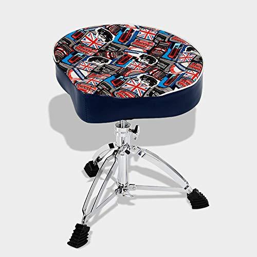 HYDD Drum Kruk, Trommel Gevoerde Stoel Krukje Stand Gitarist Drummers Muziek Rock Band Stoel, Ergonomisch Ontwerp, hoogte Verstelbaar, goede Stabiliteit, met Dubbele Braced Benen
