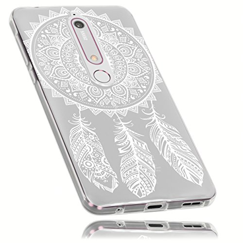 mumbi Hülle kompatibel mit Nokia 6 2018 Handy Case Handyhülle dünn mit Motiv Traumfänger, transparent