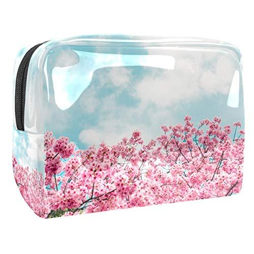 Trousse de toilette multifonction pour femme Rose Sakura Cerisier Blossom Sky