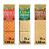 Keebler Sandwich Crackers 3 Flavors Variety Pack - Kids School Lunch Items in Individual Serving...