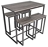 Zenvida 5 Piece Bistro/Pub Table Set with 4 Stools