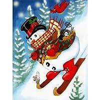 5DDIYダイヤモンド絵画クリスマスダイヤモンド刺繡雪だるまクロスステッチキット冬のモザイク家の装飾クリスマスギフト