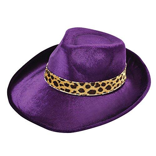Bristol Novelty bh458Fedora Samt Violett Hat, One Size