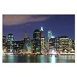 Bilderwelten Fotomural - Manhattan in New York City - Wall Mural apaisado papel pintado fotomurales murales pared papel para pared foto 3D mural pared barato decorativo, Dimensión Alto x Ancho: 190cm x 288cm