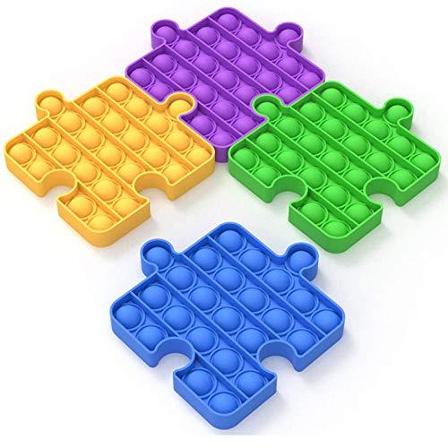 XDLH 4 Unids Fidget Toys Push Pop Bubble Sensory Fidget Toy Alivie El Estrés Y La Ansiedad Squeeze Fidget Juguetes para Adultos Y Niños