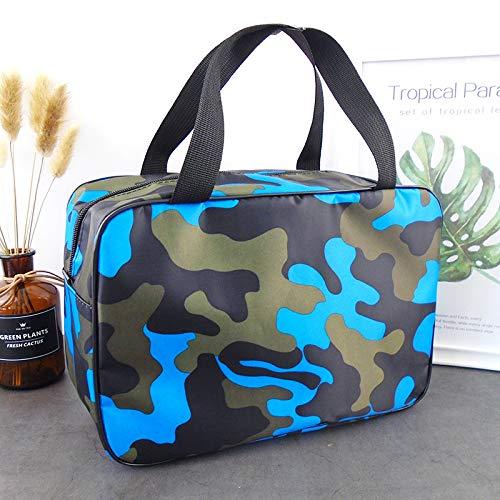 Boite de Rangement Sac de Bain de Camouflage étanche Panier Portable Hommes Femmes Grand capacité cosmétique Lavage Sac à gargariser avec (Color : Sky Blue)