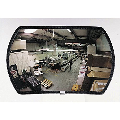 See All RR1218 Round Rectangular Glass Indoor Convex Security Mirror, 18' Length x 12' Width (Pack of 1)