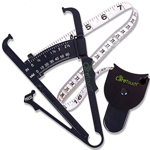 Fantastic Deal! Care Touch Skinfold Body Fat Caliper Set, Measure Tape Included
