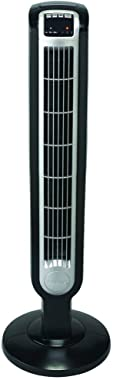 Lasko 2511 3-Speed Tower Fan with Remote Control, 36 Inch, Black