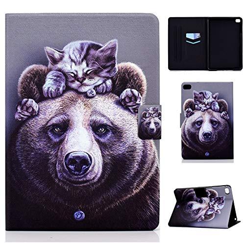 Case for iPad Mini 5 2019(7.9 inch,5th Generation),iPad Mini 4/3/2/1,Leather Cartoon Case,Card Slots,Auto Sleep/Wake Case for All iPad Mini 5/4/3/2/1 7.9' Case (Bear)