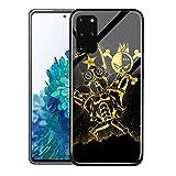 Clásico caliente anime una pieza de cristal teléfono caso para Samsung S21 Plus cubierta, 00001