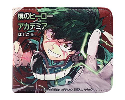 Cartera corta PU Bifold con Anime My Hero Academia Character Printing